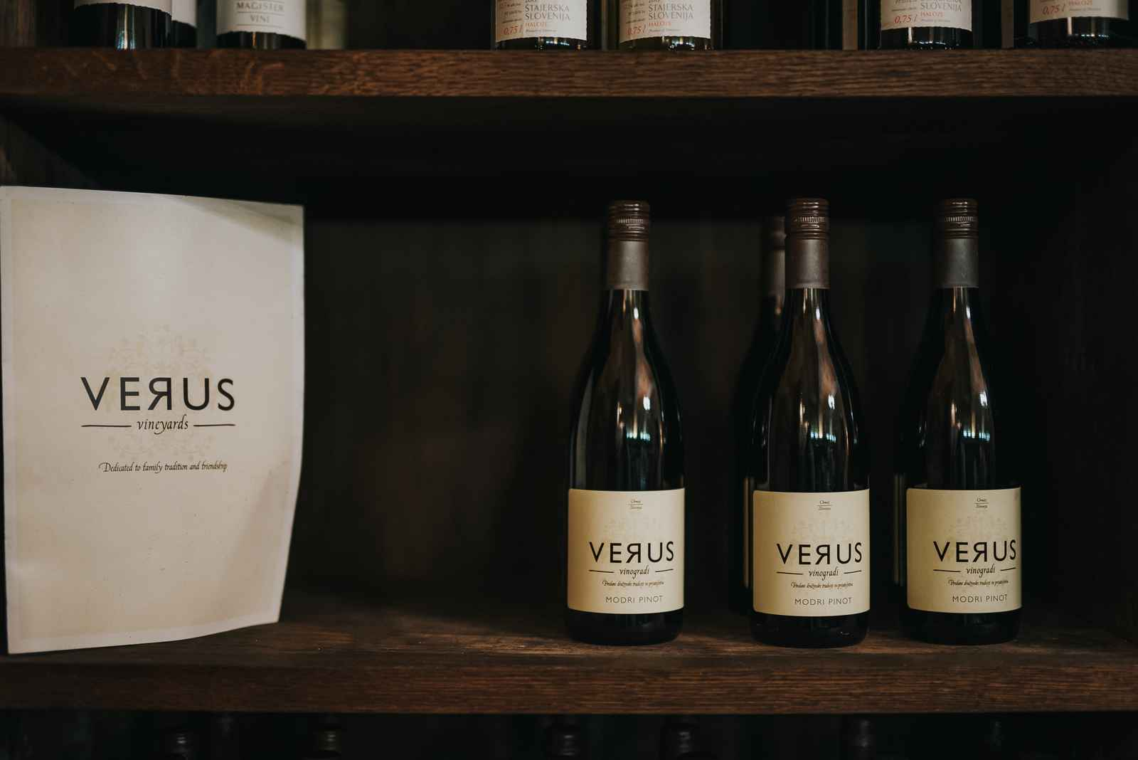 Vinoteka v Hotelu Mitra Ptuj - vina Verus